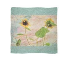 """""""You Don't Bring Me Flowers Anymore"""" Scarf~ Textured Aqua Borders Scarf"""