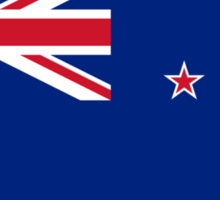 New Zealand Flag, Flag of New Zealand, Pure & Simple Sticker