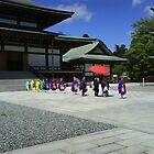 Monks at the Temple, Narita, Japan by mozart