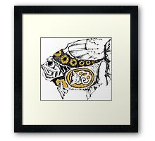 magic fish with a kitten inside Framed Print