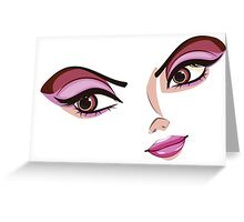 Stylized Female Face Greeting Card