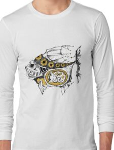 magic fish with a kitten inside Long Sleeve T-Shirt