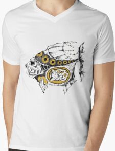 magic fish with a kitten inside Mens V-Neck T-Shirt