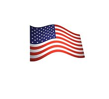 American Flag, Flutter, Stars & Stripes, USA by TOM HILL - Designer