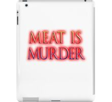 Meat is Murder, Vegetarianism, Vegetarian, Vegan, iPad Case/Skin