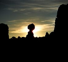Sunset in Arches N.P. by Kymbo