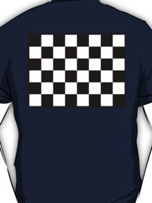 Checkered Flag, Racing Cars, Race, Finish line, BLACK T-Shirt