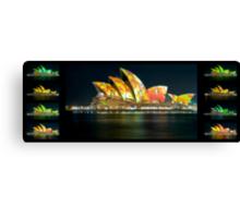 Changing Chameleon - SOH during Vivid - Panorama Series Canvas Print