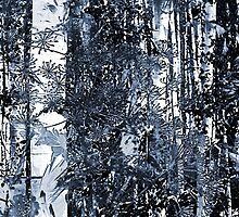 Flowery Forest Cyanotype by elfrichardson