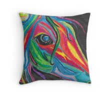 colourful freedom Throw Pillow