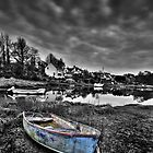 Old Blue Boat - Lllangwm Pembrokeshire by Mark Guest
