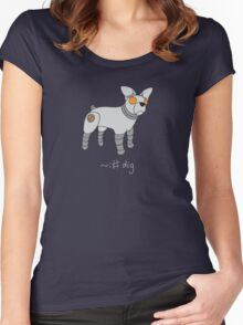 Angrybot: Prompt Dog Women's Fitted Scoop T-Shirt