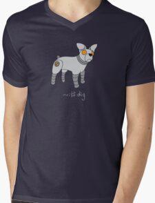 Angrybot: Prompt Dog Mens V-Neck T-Shirt