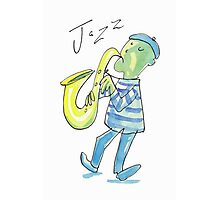 Cool Jazz Saxophone Player  Photographic Print