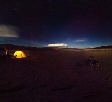 moonlight over eureka dunes, death valley, california by stormfish