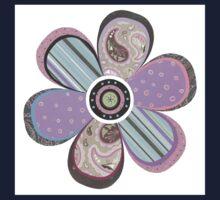 Flower Purple Kids Tee