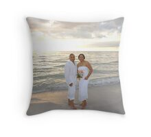 The Bride & Groom Throw Pillow