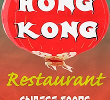 Vintage Chinese Restaurant Poster by Edward Fielding