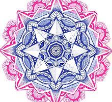Pink & Blue Mandala by uhlenhopp