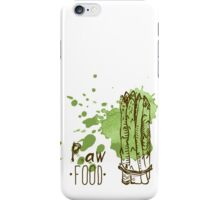 hand drawn vintage illustration of asparagus iPhone Case/Skin