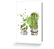 hand drawn vintage illustration of asparagus Greeting Card