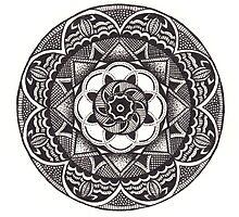 Black & White Mandala by uhlenhopp