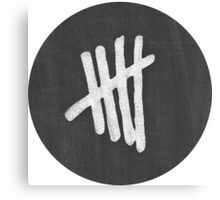 5SOS Chalk Tally Canvas Print