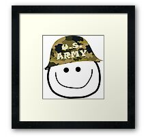 U.S. Army Smiley Framed Print