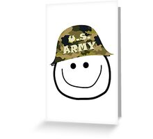 U.S. Army Smiley Greeting Card