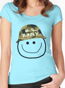 U.S. Army Smiley Women's Fitted Scoop T-Shirt