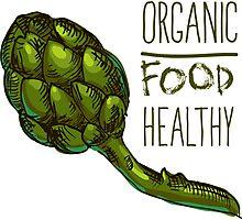 green fresh useful eco-friendly artichoke Photographic Print