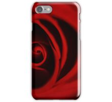 romantic red rose curved petals  iPhone Case/Skin