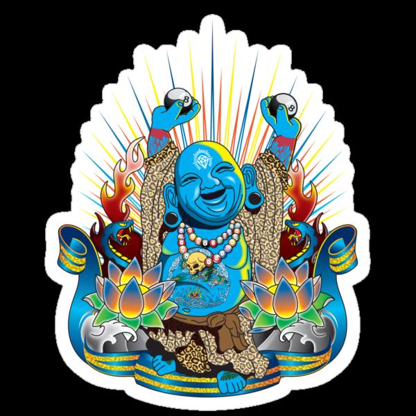 Happy Kustom Kulture Buddha by Rob Stephens