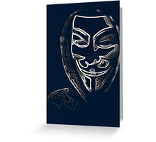 Anonymous vendetta Greeting Card