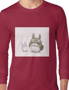 Totoro Buddies Fan Art Long Sleeve T-Shirt
