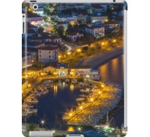 Blue hour at the port iPad Case/Skin