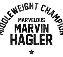 Marvin Hagler - Letterpress by liam175