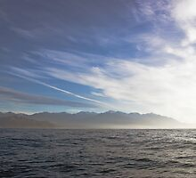 sea , Kaikoura Ranges , New Zealand   by Christopher Barton