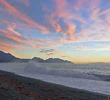 dawn surf, Kaikoura Peninsula , New Zealand   by Christopher Barton
