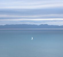 white sail 2, Abel Tasman National Park , New Zealand   by Christopher Barton