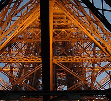 under the eiffel tower by kmcphersonphoto