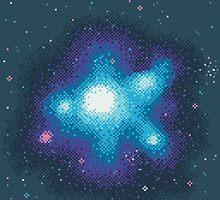 8Bit Galaxies:  Cornflower Nebula by sp8cebit