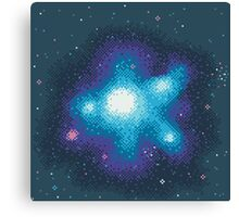 8Bit Galaxies:  Cornflower Nebula Canvas Print