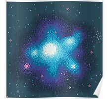 8Bit Galaxies:  Cornflower Nebula Poster