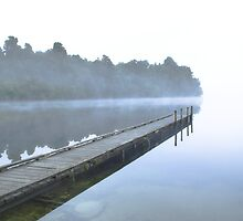 Lake Mahinapua mist, New Zealand  by Christopher Barton