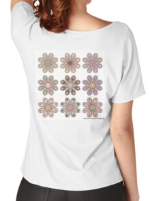 Shades of Gray Foot Flowers Women's Relaxed Fit T-Shirt