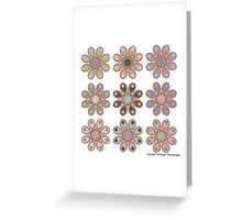 Shades of Gray Foot Flowers Greeting Card