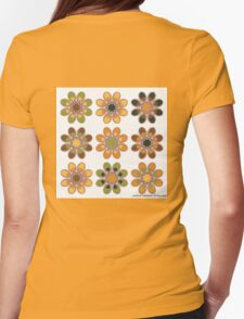 Orange Tree Foot Flowers Womens Fitted T-Shirt