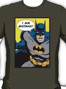 Batman - I Am Batman Comic Design T-Shirt