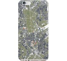 Berlin city engraving map iPhone Case/Skin